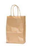 Изолированная бумажная хозяйственная сумка Стоковое Фото