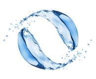 Изолированная вода брызгает в движении на белой предпосылке Стоковая Фотография