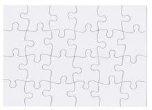 Изолированная головоломка зигзага Стоковые Фото