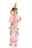 изолированная девушка куклы немногой белому Стоковое фото RF