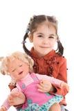 изолированная девушка куклы немногой белому Стоковые Фото