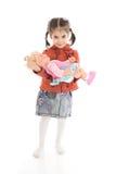изолированная девушка куклы немногой белому Стоковое Фото