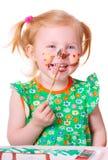 изолированная девушкой белизна краски Стоковое Изображение RF