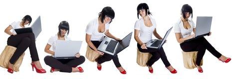 изолированная девушкой белизна студента Стоковая Фотография