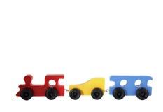 изолированная древесина поезда игрушки Стоковая Фотография RF