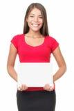изолированная женщина знака стоковое изображение rf