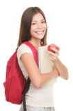 изолированная женщина студента Стоковые Фото