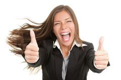 изолированная женщина успеха стоковые изображения rf