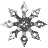 изолированная звезда металла Стоковые Фото