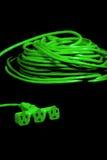 изолированная зеленым цветом белизна студии штепсельной вилки Стоковые Изображения