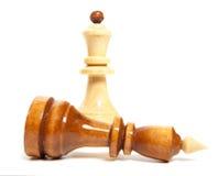 Изолированная игра шахмат Стоковые Фотографии RF