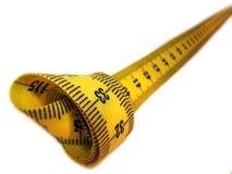 изолированная измеряя лента Стоковая Фотография