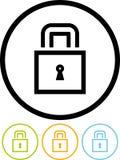 изолированная иконой белизна вектора padlock Стоковые Фото