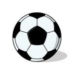 Изолированная иллюстрация шарика футбола Стоковое Изображение RF