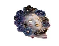 изолированная итальянская белизна маски Стоковая Фотография