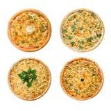 изолированная итальянская пицца вкусная стоковые фотографии rf
