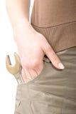 изолированная карманная белизна винта Стоковое Фото
