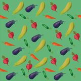 Изолированная картина, еда, зеленый цвет, красный цвет, иллюстрация, перец, лист, белизна, овощ, природа, конспект, chili, безшов Стоковое Фото
