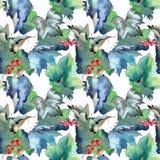 Изолированная картина листьев смородины в стиле акварели Стоковые Фотографии RF