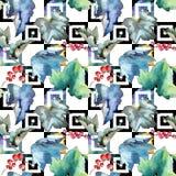 Изолированная картина листьев смородины в стиле акварели Стоковое фото RF