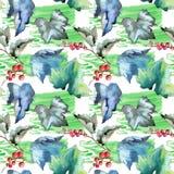 Изолированная картина листьев смородины в стиле акварели Стоковая Фотография