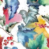 Изолированная картина листьев смородины в стиле акварели Стоковое Фото