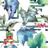 Изолированная картина листьев смородины в стиле акварели Стоковые Изображения RF