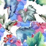 Изолированная картина листьев смородины в стиле акварели Стоковое Изображение