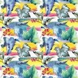 Изолированная картина листьев смородины в стиле акварели Стоковые Фото