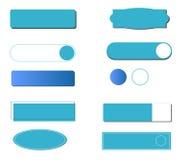 Изолированная кнопка с различными стилями и формами иллюстрация вектора