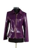 изолированная кожа куртки Стоковая Фотография RF
