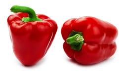 изолированная колоколом белизна красного цвета 2 перца паприки Стоковое Фото