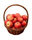 изолированная корзина яблок Стоковое Изображение