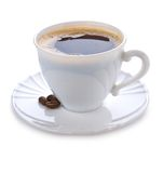 изолированная кофе белизна кружки Стоковое Изображение RF