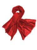 изолированная красная белизна шарфа Стоковое Изображение RF