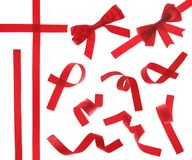 изолированная красная тесемка Стоковое Изображение RF