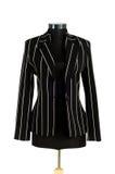 изолированная куртка striped Стоковое Фото