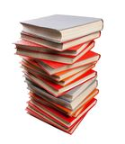 Изолированная куча книг на белой предпосылке Стоковые Изображения RF