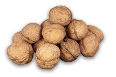 Изолированная куча штабелированных грецких орехов Стоковые Изображения RF