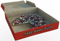 Изолированная легкая закуска, куски коробки пиццы Стоковые Изображения RF