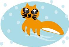 изолированная лисица шаржа предпосылки Стоковая Фотография