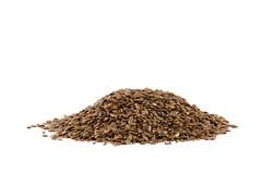 изолированная льном белизна семени кучи Стоковые Изображения RF