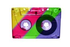 изолированная магнитофонная кассета Стоковые Изображения