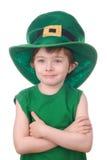 изолированная мальчиком белизна leprechaun Стоковое Изображение RF