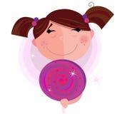 изолированная мальчиком белизна lollipop малая сладостная Стоковое Изображение