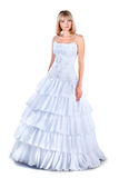 Изолированная мантия венчания красивейшей невесты нося Стоковая Фотография