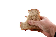 изолированная маслом белизна сандвича арахиса студня Стоковые Фотографии RF