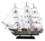 изолированная модельная белизна корабля Стоковые Фото
