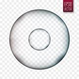 изолированная молекула Клетка или вирус вектора прозрачные Стоковое Изображение RF