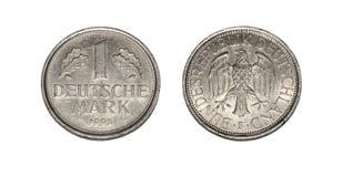 Изолированная монетка DM стоковая фотография rf